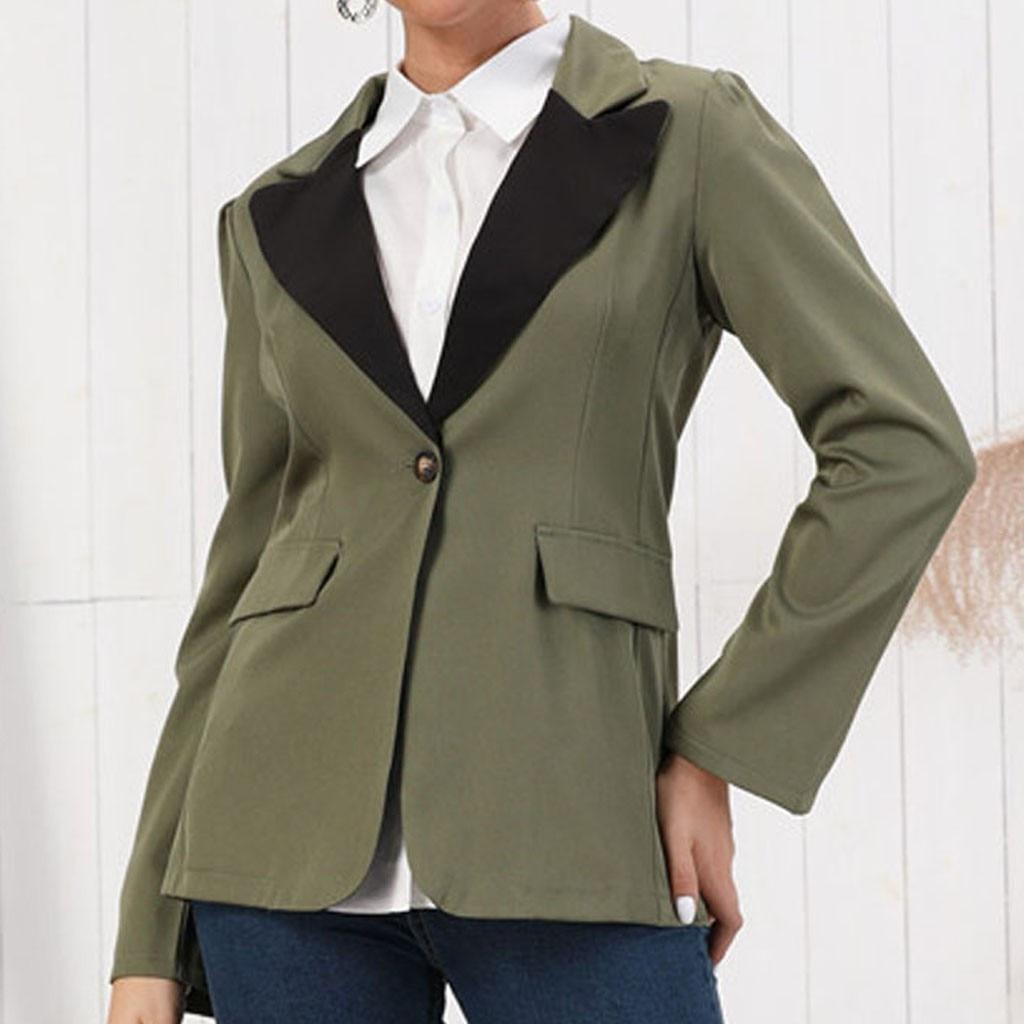 2019 Spring Autumn Slim Women Jackets Blazer Pockets Office Work Jacket Coat Elegant Business Lady Chaquetas Mujer Invierno#3