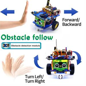 Image 4 - Keyestudio Desktop Mini Bluetooth Smart Robot Car Kit  V3.0 for Arduino Robot STEM/Support Mixly blocks coding