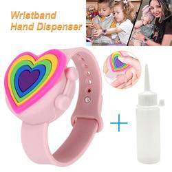 4PCS Cartoon Silicone Wristband Hand Dispenser Portable Safe Gel Bracelet Hand Sanitizer Gel Dispenser Disinfectant Bracelet