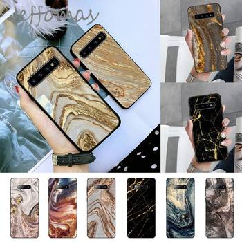 Gold marble Phone Case For Samsung S6 S7 edge S8 S9 S10 e plus A10 A50 A70 note8 J7 2017 image