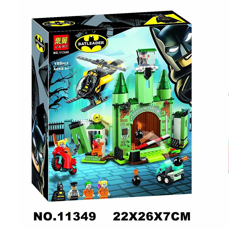 Bela 11349 195Pcs Super Heroes Series Batman and The Joker Escape Building Blocks Brick Kids Toys Christmas Gift 76138