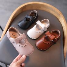 Toddler Shoes Flower Spring Dance Girls Flat Children Autumn Fashion Pu Bowtie Comfortable