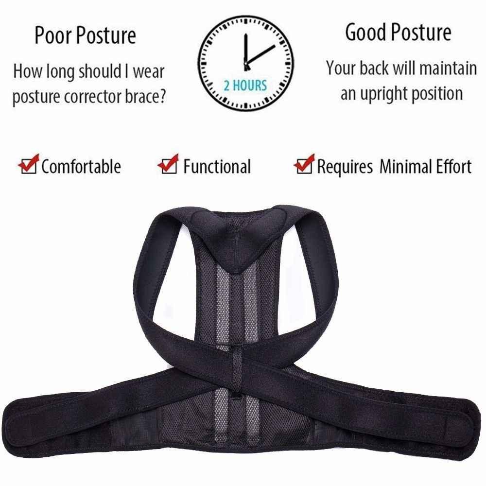 Aptoco correcteur de Posture dos Posture orthèse soutien de la clavicule arrêter de Slouching et de Hunching réglable entraîneur du dos unisexe