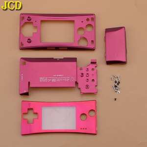 Image 4 - JCD 4 in 1 Metal Housing Shell Case for Nintend GameBoy Micro GBM Front Back Cover Faceplate Battery Holder w/ Screw