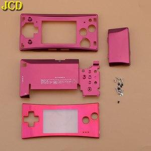 Image 4 - Jcd 4 in 1 금속 하우징 쉘 케이스 nintend gameboy micro gbm 전면 후면 커버 페이스 플레이트 배터리 홀더 (나사 포함)