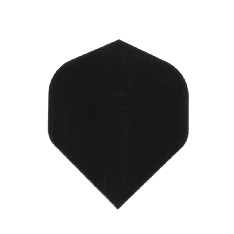 OOTDTY 30 Pcs High Quality Simple Pure Black PET Dart Flights D0UF