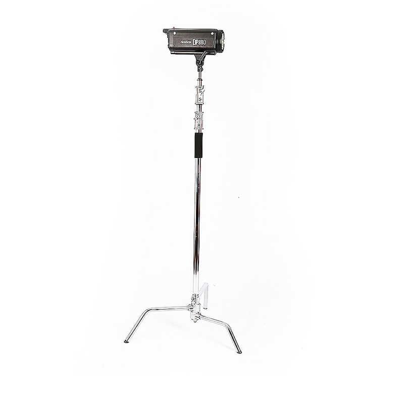 2,6 м из нержавеющей стали световая подставка Волшебные ножки фотография C-frame видео свет кронштейн складной Железный лайтстенд с 1 м железной рейкой