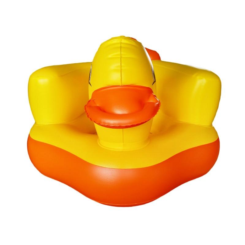 Baby Chair Seat Inflatable Chair PVC Kids Sofa Yellow Duck Portable Sofa Multifunctional Bathroom Baby Sofa Chair (10)