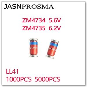 Image 1 - Jasnprosma 1000Pcs 5000Pcs ZM4734 ZM4735 5.6V 6.2V LL41 1W ZM4734A ZM4735A 4734 4735 Zener 1N4734 1N4735 IN4734 IN4735 5V6 6V2