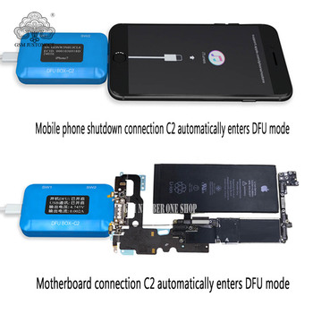 JC DFU BOX-C2 For Restoring Rebooting IOS Restore Reboot Instantly SN/ECID/MODEL Information Reading USB Current/voltage Display