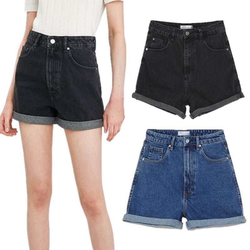 New Spring Denim Shorts Casual Loose Version Of The Type 2 Color ZAraing
