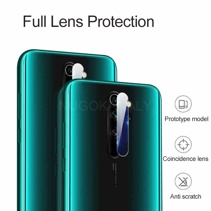 Tempered Glass And Metal Protective Ring for Xiaomi Redmi Note 8 Pro Camera Lens 3