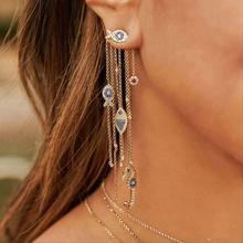 JaneKelly 럭셔리 술 물고기 CZ 전체 마이크로 큐빅 지르코니아 여성 신부 웨딩 약혼 귀걸이 도매
