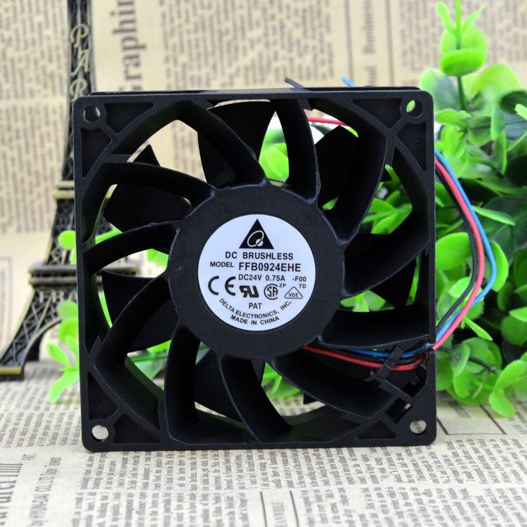 Original Delta FFB0924EHE 24V 0.75A 9038 9CM ABB Inverter Fan