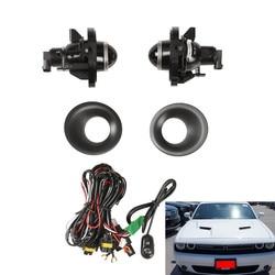Areyourshop 2 Pair Replacement Fog Light Lamps For Challenger Grand Cherokee Durango Avenger Fog Light Kit Car Auto Accessories