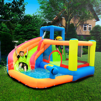 Inflatable Outdoor Water Slide With Swimming Pool And Gun Slide Bouncer Castle Waterslides for Kids Amusement Park Equipment