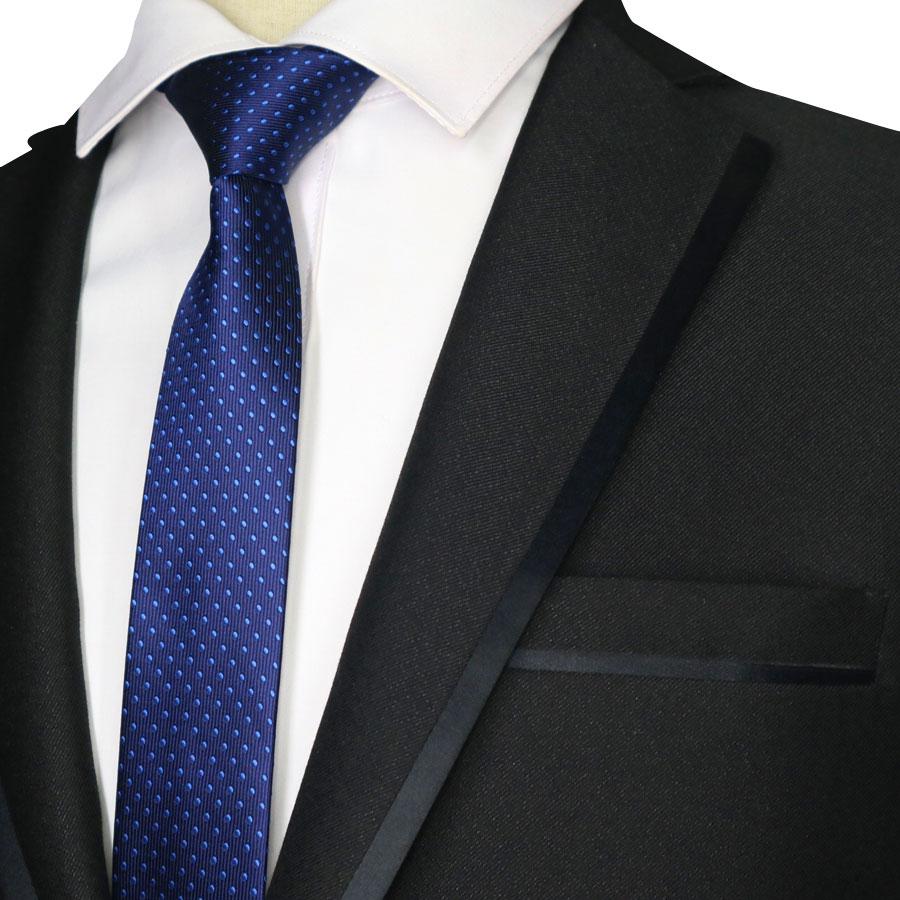 2019 New Skinny 5CM Men's Neck Tie Polyester Necktie Solid Plaid Polka Dot Jacquard Woven Slim Narrow Ties Wedding Party