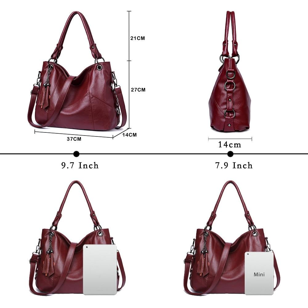 Image 4 - Lanzhixin Women Leather Handbags Women Messenger Bags Designer Crossbody Bag Women Bolsa Top handle Bags Tote Shoulder Bags 819S-in Shoulder Bags from Luggage & Bags