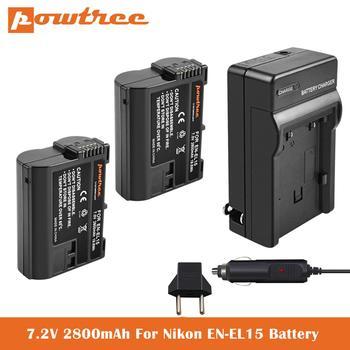 2800mAh EN-EL15 Battery+Charger For Nikon D850 D7500 D7000 D7100 D7200 D800 D800E D810 D810A D750 D600 D610 Digital SLR Camera недорого