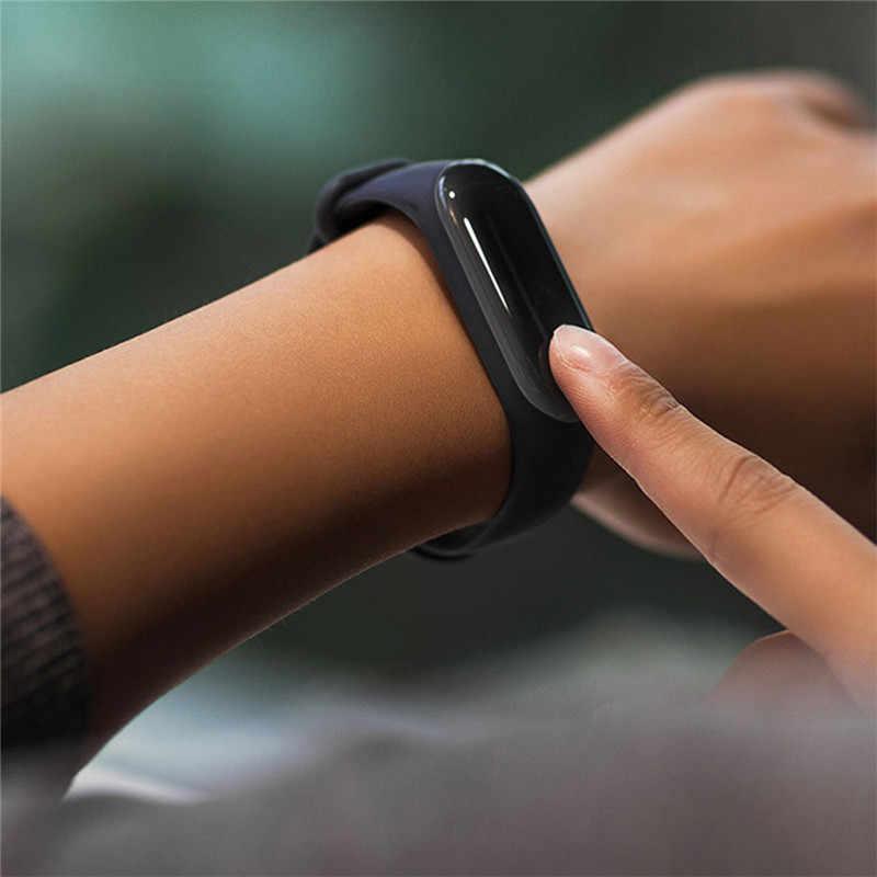 5PCS HD Schutz Film Smart Armband Für Xiao mi mi Band 4 Sport Replacment Uhr Strap 0,3/1 M USB Ladekabel Für mi Band 4
