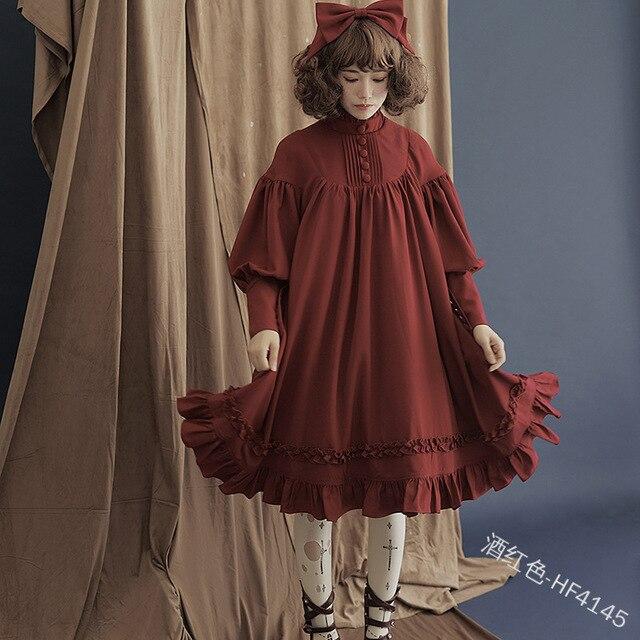 Фото японское милое платье в стиле лолиты винтажное свободное викторианском цена
