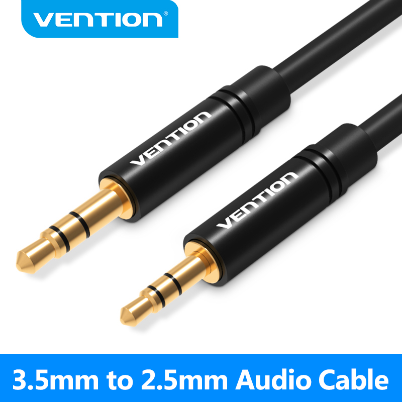 Vention 2.5mm a 3.5mm aux cabo jack 3.5 a 2.5 macho para macho cabo de áudio para mp3 smartphone telefone moible alto-falante para aux cabo