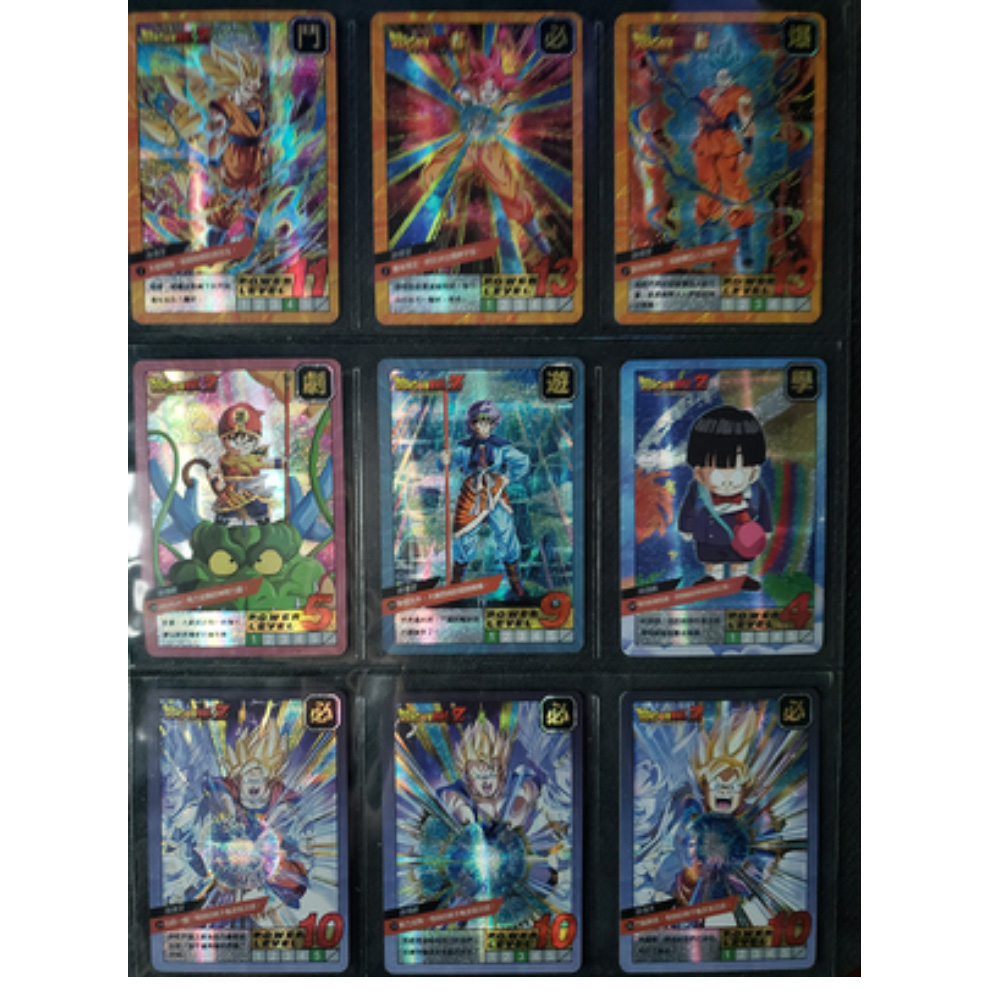 37PCS Super Dragon Ball Holographic Flash Card Limited Edition Hero Battle Instinct Goku Vegeta Game Collection Anime