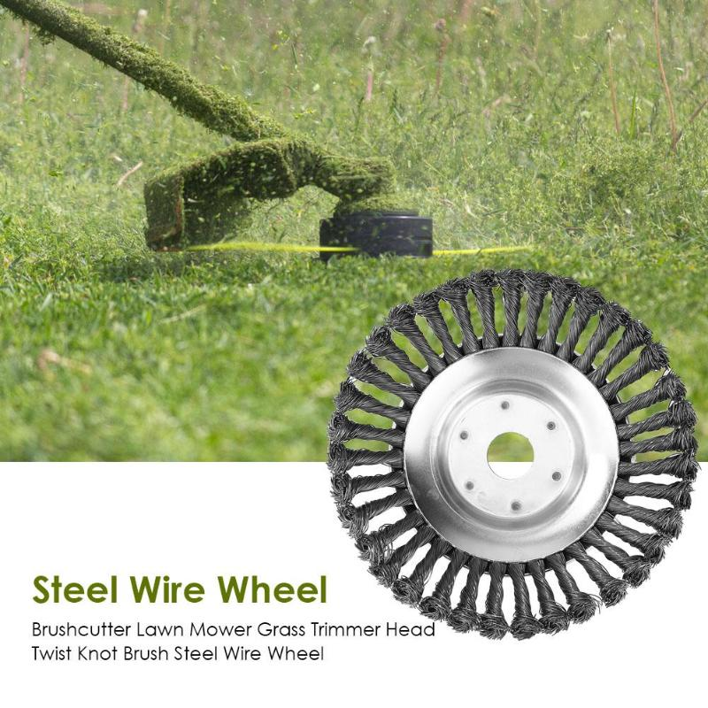 Steel Trimmer Head Garden Weed Steel Wire Brush Break-proof Rounded Edge Weed Trimmer Head For Power Lawn Mower Grass