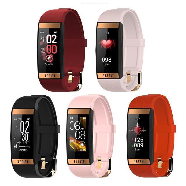 E78 สมาร์ทสร้อยข้อมือผู้หญิงลิปสติกสไตล์ IP68 กันน้ำ Sleep Tracker สุขภาพสายรัดข้อมือความดันโลหิตสมาร์ทนาฬิกาฟิตเนส