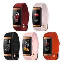 E78 inteligentna bransoletka kobiety szminka styl IP68 wodoodporny tracker snu zdrowie nadgarstek smartwatch do mierzenia ciśnienia krwi opaska sportowa
