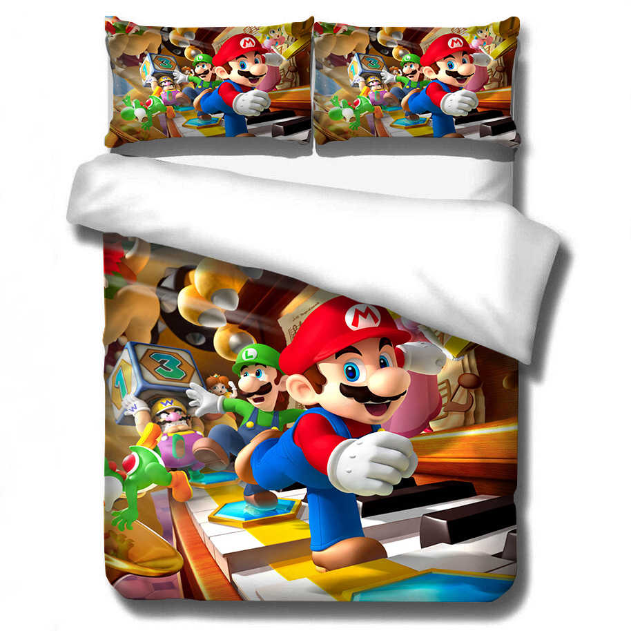 The final bowser is barely changed from the ones before. Bedding 3d Super Mario Bros Set Children Cute Cartoon Character Printed Duvet Cover Set Bed Set Bed Linens Twin Full Queen King Duvet Cover Aliexpress
