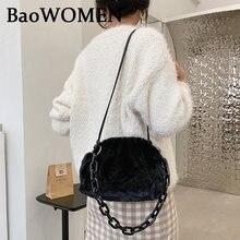 Женская зимняя мягкая плюшевая сумка baowomen милая женская