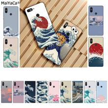 MaiYaCa Wave Art Japanese Green Illust Classic TPU Soft Silicone Phone Case Cover for Xiaomi 8 9 se Redmi 6 pro 6A 4X 7 note 5 7(China)
