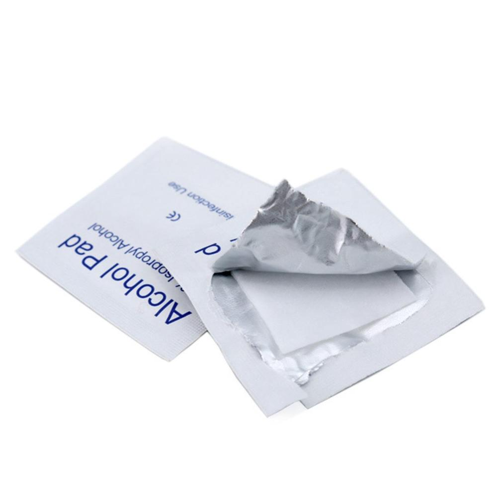 100Pcs / Bag Alcohol Wipes Disposable Disinfection Alcohol Wipes Hospital Alcohol Disinfection Piece Baby Wet Wipes