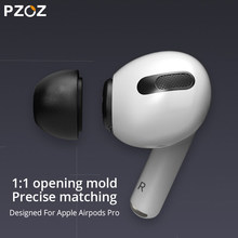 Pzoz Voor Airpods Pro Oor Tips Memory Foam Ear Tips Knoppen Bluetooth Draadloze Case Oortelefoon Tips Geluiddichte Oordopje Airpods Pro 1:1(China)