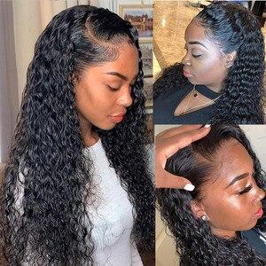 Image 4 - 30 Inch עמוק גל 13x4 תחרה מול שיער טבעי פאות 4x4 סגירת פאה מראש קטף ברזילאי שיער טבעי פאה לנשים זול סיטונאי