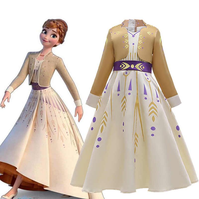 Mädchenkleid Prinzessin Kleid Gefrorenes Aufführungen Pailetten Rock AishaUmhang