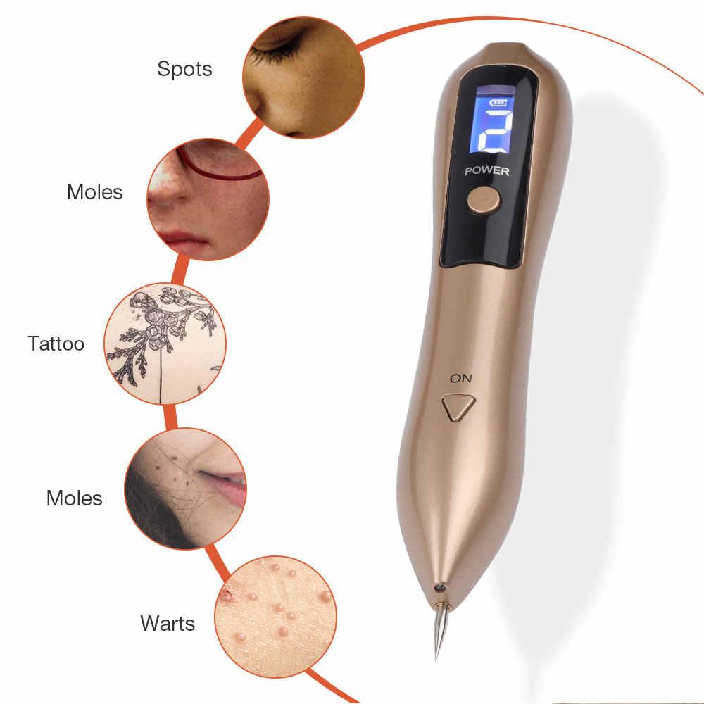 Più nuovo Laser Penna Rimozione Talpa Rimozione Macchia Scura LCD Al Plasma Penna per La Cura Della Pelle Della Pelle Verruca Tag di Rimozione Del Tatuaggio Strumento cura di bellezza