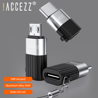 ¡! ACCEZZ-Adaptador de 8 pines tipo C, Cable convertidor Micro USB para iPhone, Xiaomi, Huawei, Samsung, Android, conector DE DATOS DE CARGA RÁPIDA, 2 uds.