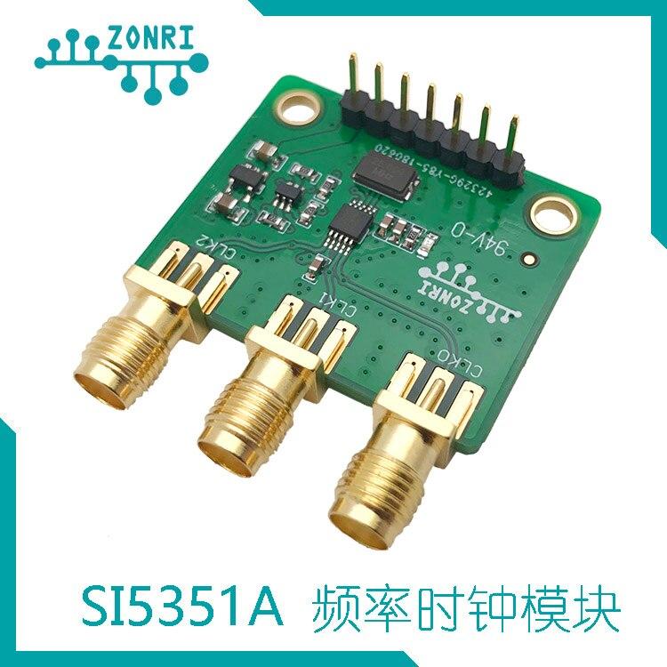 3-канальный модуль генератора тактовых сигналов Si5351A 8 кГц-160 МГц (4-слойная печатная плата)