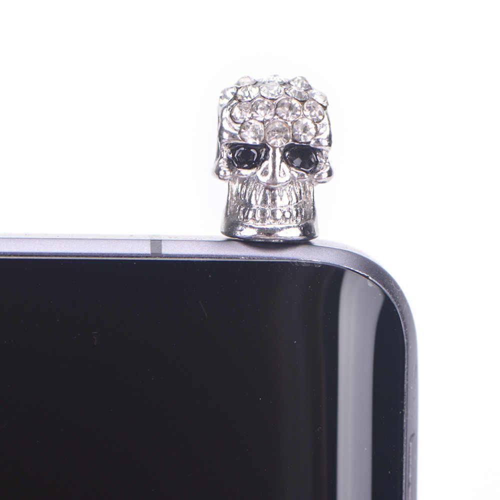 Keren Tengkorak Logam Debu Plug Universal 3.5 Mm untuk Jack Earphone untuk iPhone untuk Samsung Galaxy untuk HTC untuk Dekorasi