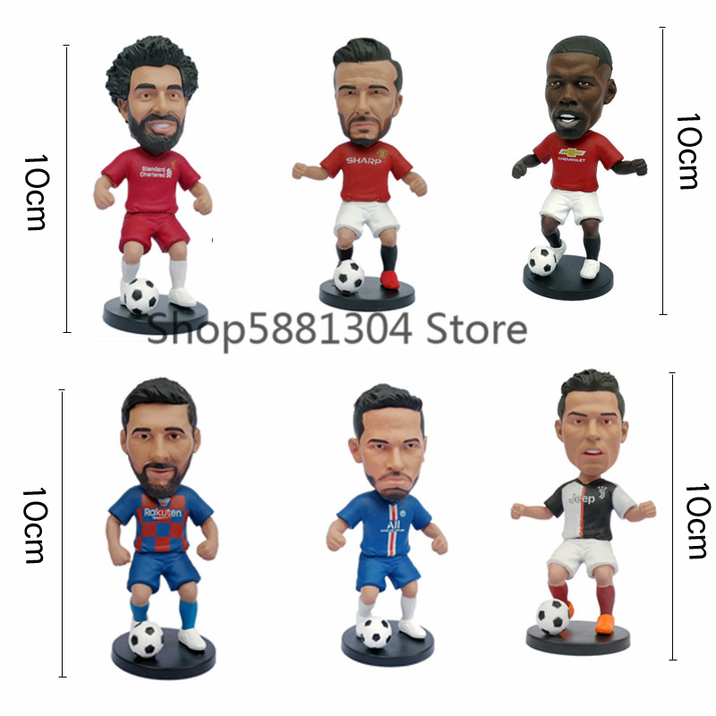 10cm Sport Stars Player figures football Stars Figure Toys Collectible Star Figures Action Model car decorations toy for Gifts