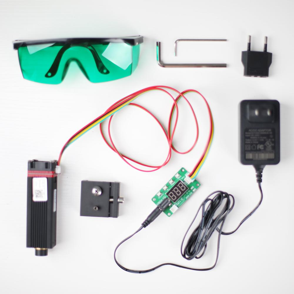 2020 NEJE  20W 450nm Laser Module Head Kits For DIY Metal / Wood Router / Paper Cutter With TTL Pwm