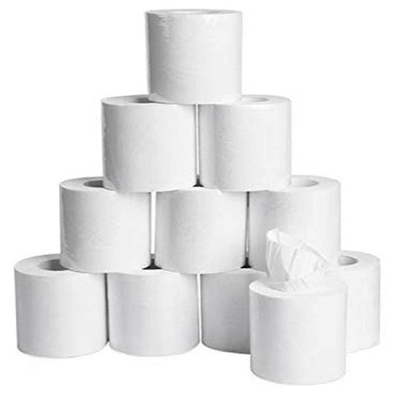 20 Rolls Soft White Toilet Paper, Family Rolls Paper,4-Layers Toilet Tissue,Gentle Bath Tissue Paper Towel