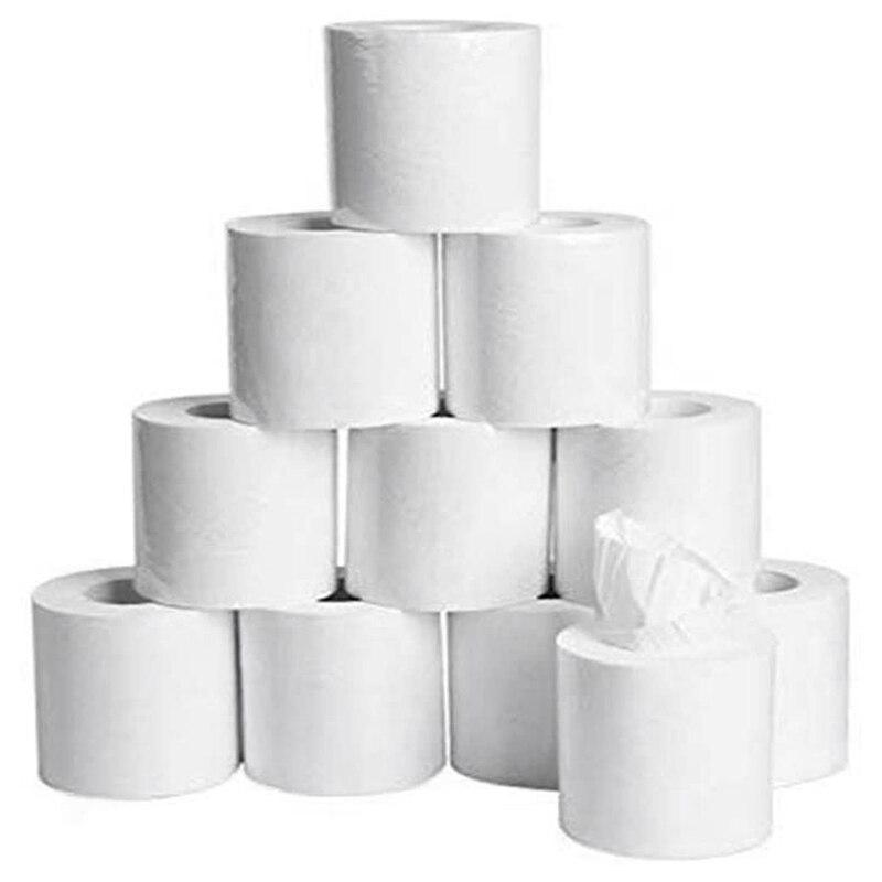 20 Rolls Soft White Toilet Paper, Family Rolls Paper,4-Layers Toilet Tissue,Gentle Bath Tissue Paper Towel