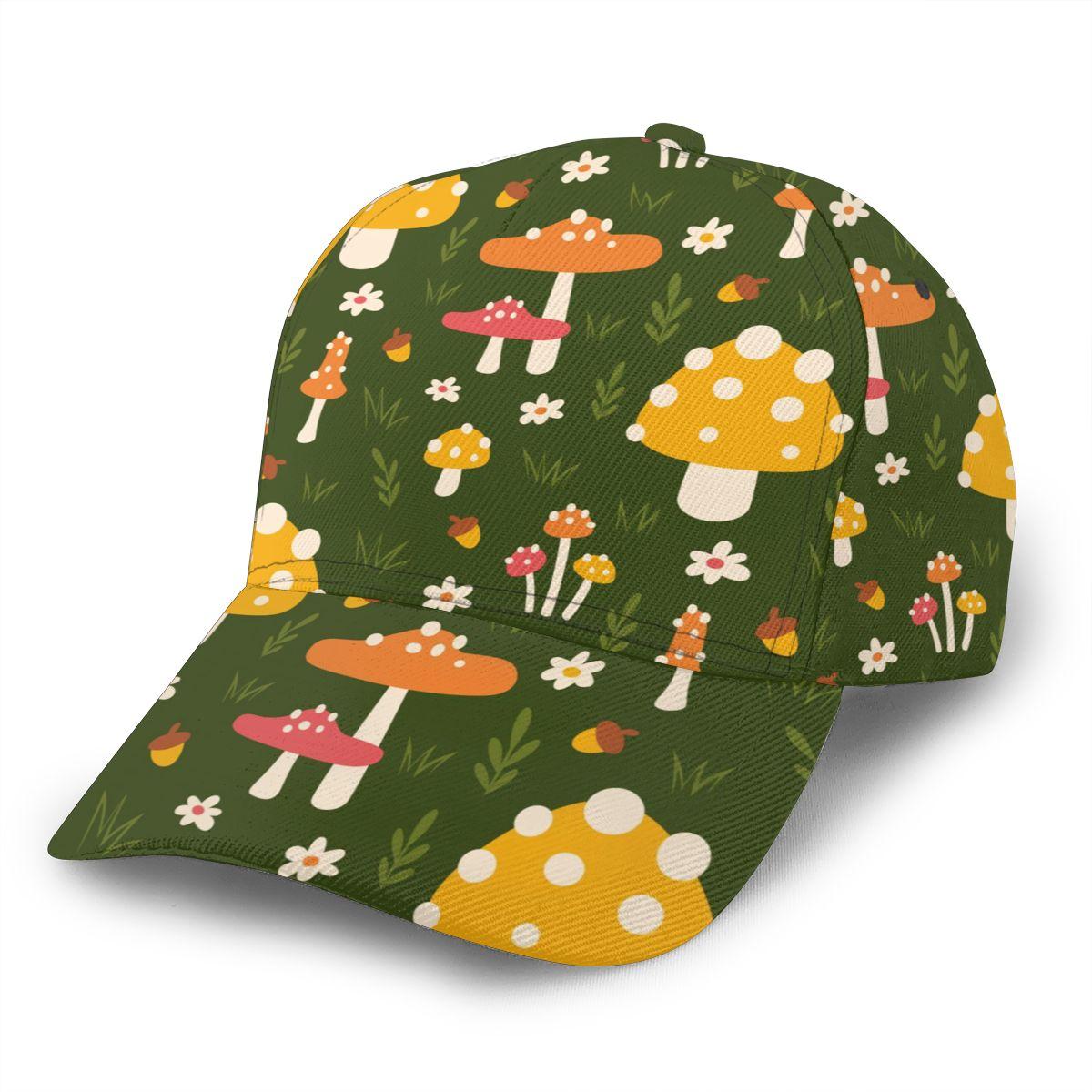 Mushroom Leaves Pattern Baseball Cap Fashion Men Hat Cap Summer Dad Hat Male Sports Hat