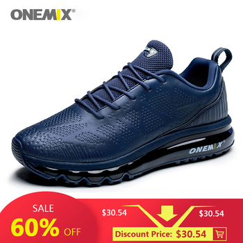 ONEMIX Outdoor Sport Running Shoes Men Air Cushion Sneakers Breathable Mesh Advanced Walking Shoes Jogging Sport Shoes Free Run onemix women s running shoes knit mesh vamp lightweight run sneakers woman cushion for outdoor jogging walking red gold white
