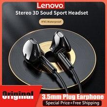 Lenovo XF06 słuchawki 3.5mm In-Ear 1.2M przewodowe słuchawki głęboki bas Stereo Surround słuchawki douszne z mikrofonem do telefonu Mp3