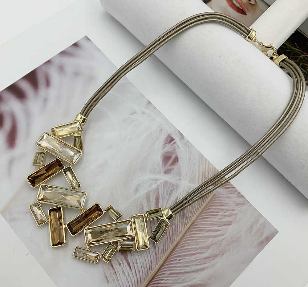 Wysokiej jakości całkowicie wyłożone kryształkami wisiorek naszyjniki duży rozmiar Rhinestone Choker Chunky luksusowe collar komunikat naszyjnik dla kobiet