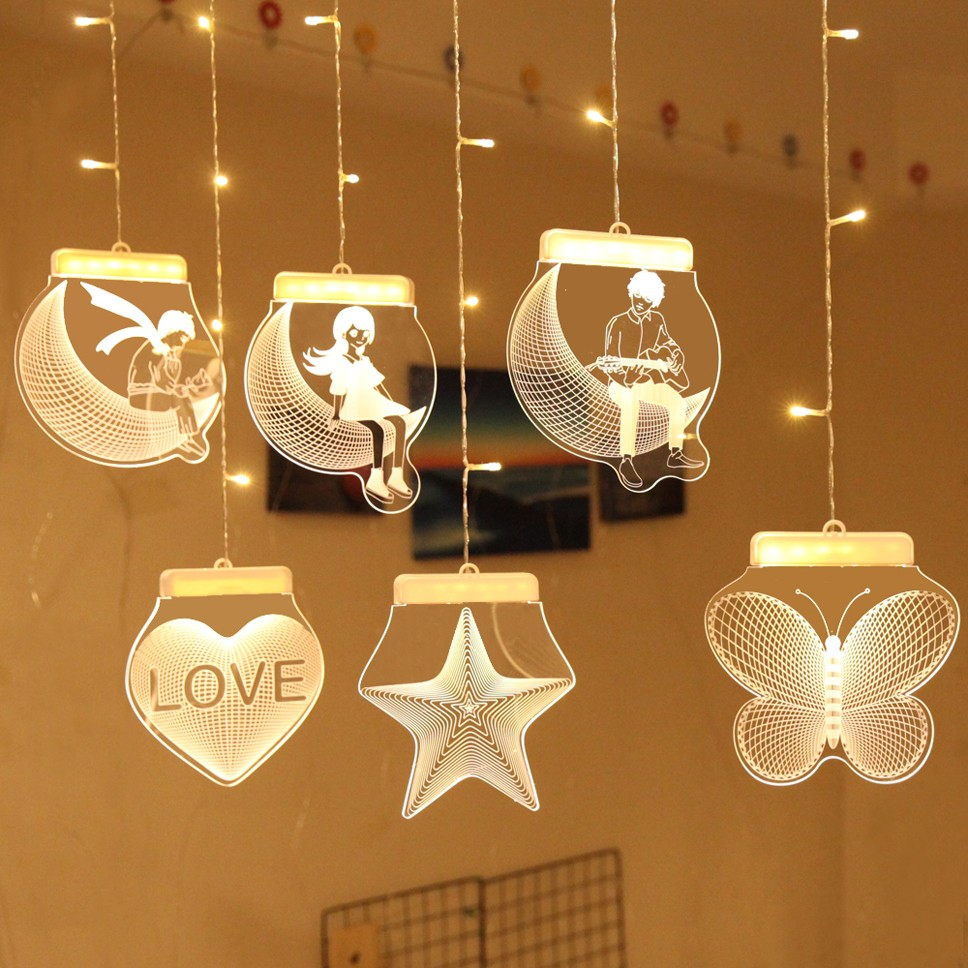 USB Neon Star Night Light Love Decoration Moon Led Light Party Rainbow Home Kids Room Decoration Light Night Light Children